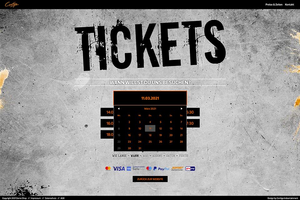 Ticketshop Onlinebuchung Ticketing Kassensystem Buchung Contigo Indoortainment Kasse Indoorspielplatz Trampolinpark Kassenlösung Kassensystem Buchungssystem Indoorpark